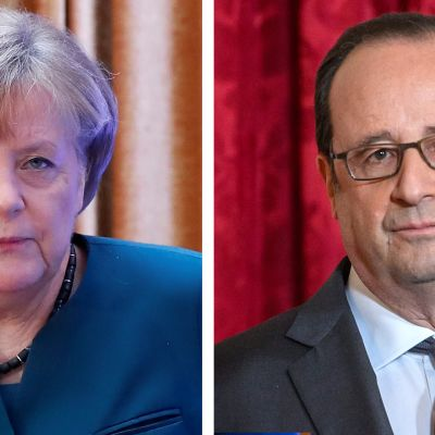 Angela Merkel Francois Hollande.