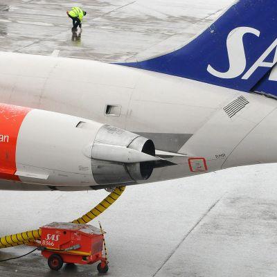 Lanetokone Arlandan lentokentällä