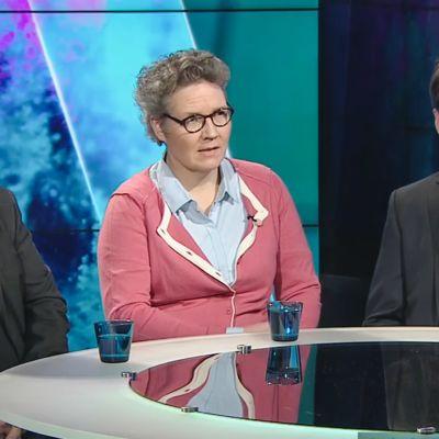 Kari Kanala, Juhana Markkula ja Susanna Airola.