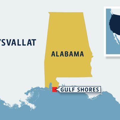 Alabaman kartta.