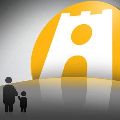 Kelan logo ja perhe