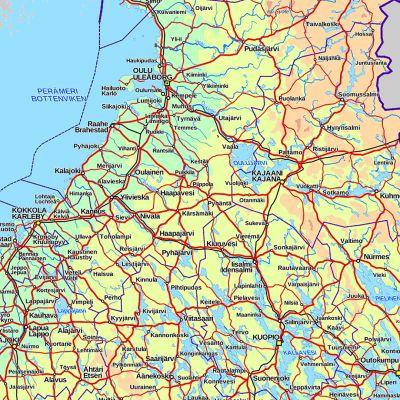 Maanmittauslaitoksen kartta.