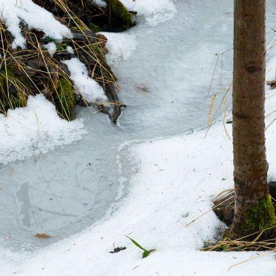 Lumi sulaa.