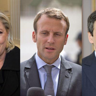 Le Pen Macron Fillon.