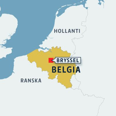 Bryssel kartta.