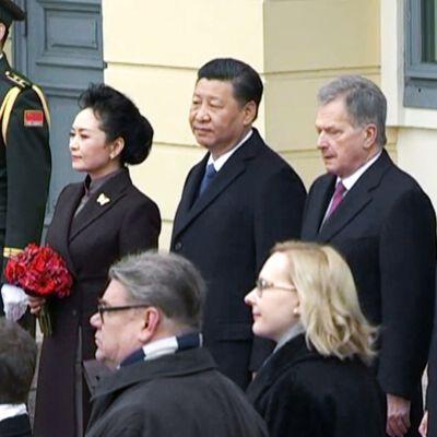 Kiinan presidentti vierailee Suomessa.