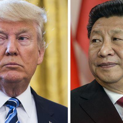 Presidentit Donald Trump ja Xi jinping.
