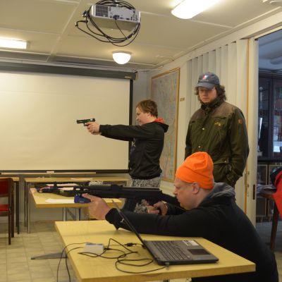 Tornion Reserviläisten järjestämä ampumataitotapahtuma Laivajärven ampumaradalla.