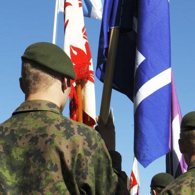 Puolustusvoimien lippujuhla vuonna 2011 Joensuussa.