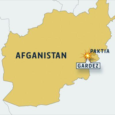 Gardez Afganistanin kartalla.