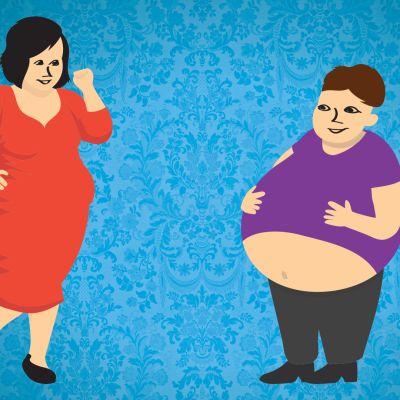 Kuvitus lihavuudesta.
