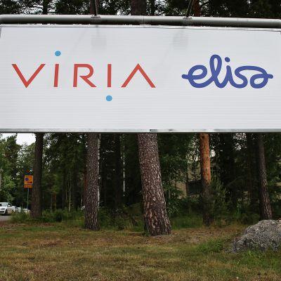 Virian ja Elisan kyltti.