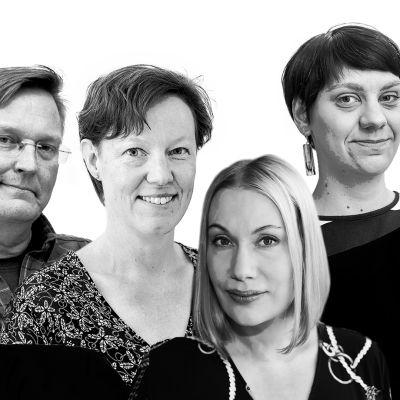Ari Mölsä, Pasi Peiponen, Paula Tiessalo, Sanna Ukkola, Jenny Matikainen ja Jari Korkki.