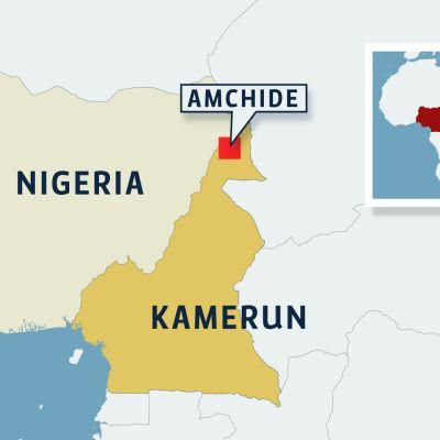 Kamerunin kartta.
