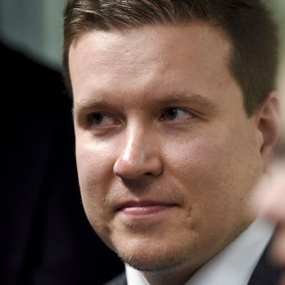 VR:n hallintoneuvoston puheenjohtaja, kansanedustaja Ville Tavio (ps.) Helsingissä 15. kesäkuuta 2017.