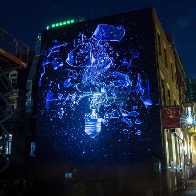 Onur Dincin muraali Montrealissa Kanadassa.
