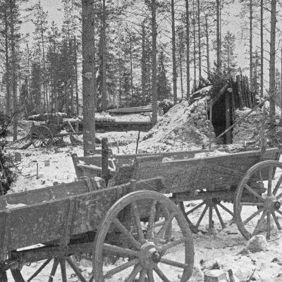 Kuhmon Saunajärvellä talvisodan aikainen venäläismotti.