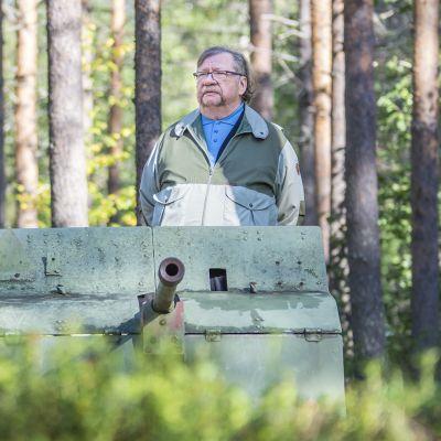 Jorma Piirainen Kuhmon Jyrkänkoskella.