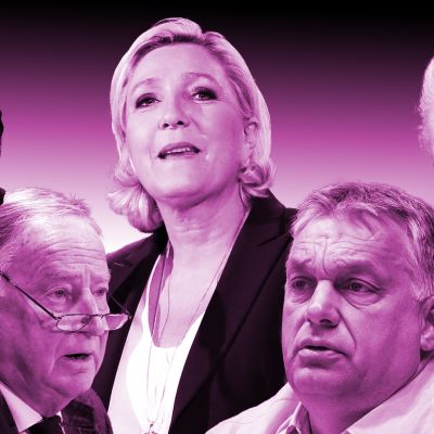 Jimme Åkesson, Alexander Gauland, Marie Le Pen, Viktor Orban ja Geert Wilders