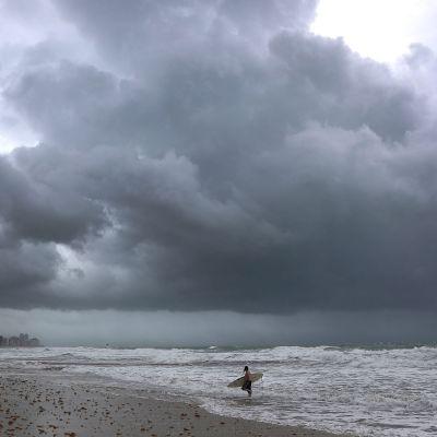 Floridan Miami Beach kuvattuna 9. syyskuuta ennen hurrikaani Irman saapumista.
