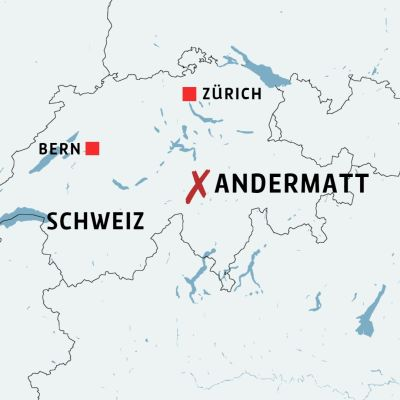 Karta över Schweiz.