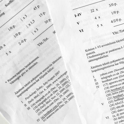 Ylioppilas kokeet vuosilta 2011 ja 2017