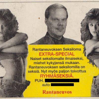 Rantaneuvoksen Seksilomien mainos.