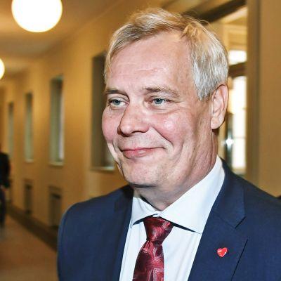 SDP:n puheenjohtaja Antti Rinne.