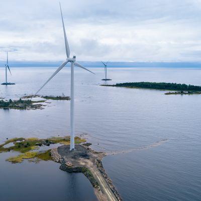 Ikean tuulivoimapuistot.