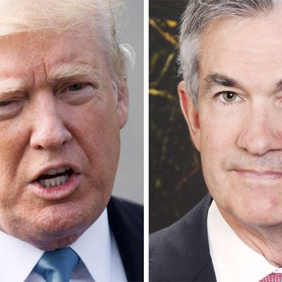 Donald Trump ja Jerome Powell