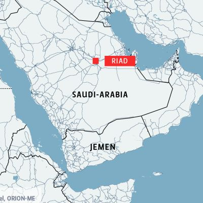 Kartta jossa näkyy Saudi-Arabia ja Jemen.
