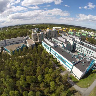 Päärakennus Saalastinsali Tietotalo ilmakuva.