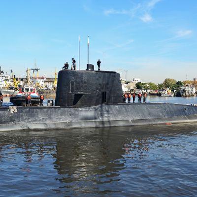 Argentiinan laivaston julkaisema, päiväämätön kuva San Juan -sukellusveneestä.