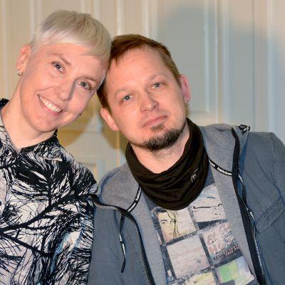 Kuvassa tutkijat Raisa Foster ja Jussi Mäkelä