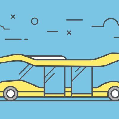 Piirroskuva bussista.