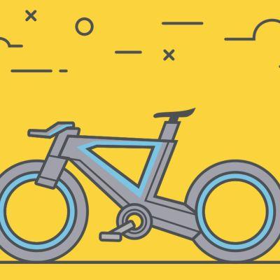 Piirroskuva polkupyörästä.