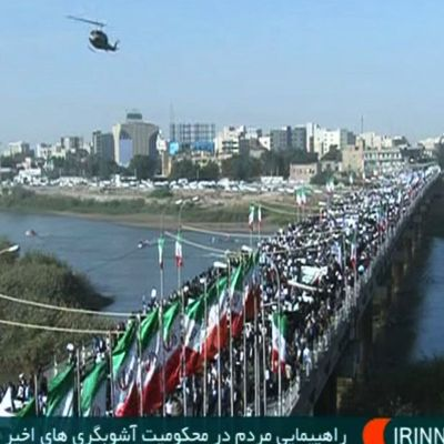 Demonstration i Ahvaz i Iran.