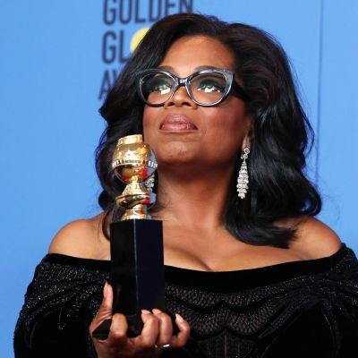 Oprah Winfrey palkittiin Golden Globe -gaalassa Cecil B. DeMille -palkinnolla.