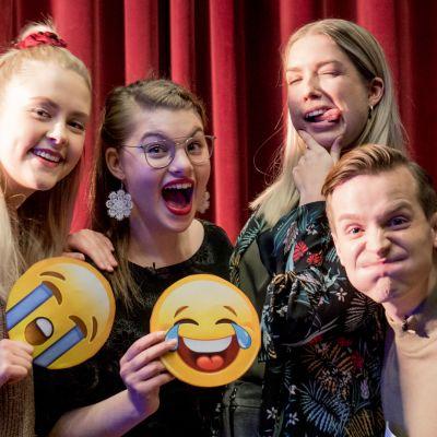 Kuvassa Amelie Blauberg, Ronja Alatalo, Thelma Siberg ja Valtteri Lehtinen