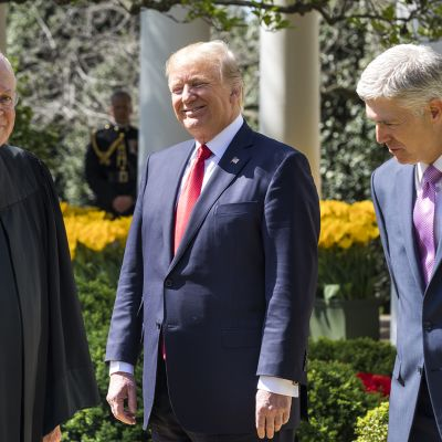 Anthony M. Kennedy, Donald Trump ja Neil Gorsuch.