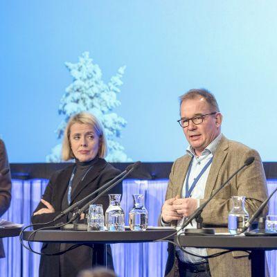 Neljän maan suojelupoliisin johtajat yhteiskuvassa Sälenin turvallisuuskokouksessa 16. tammikuuta.