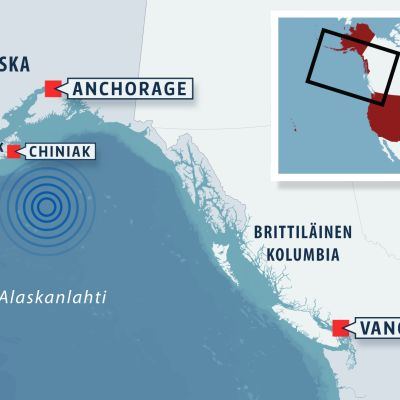 Alaskan kartta