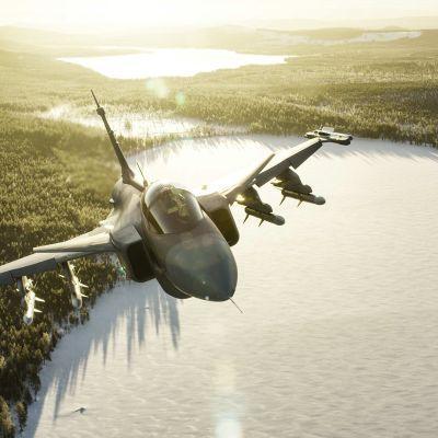 Ruotsin Ilmavoimien Saab JAS39C Gripen -hävittäjä.