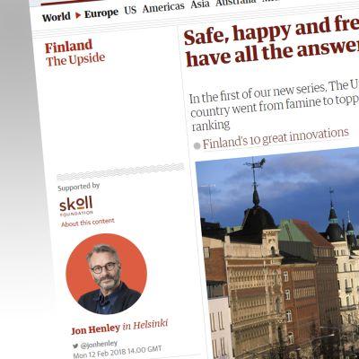 Kuvakaappaus the Guardian lehdestä