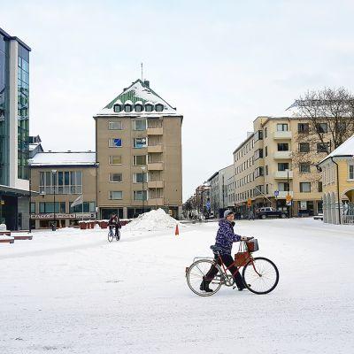 Marian aukio Lappeenrannan keskustassa.