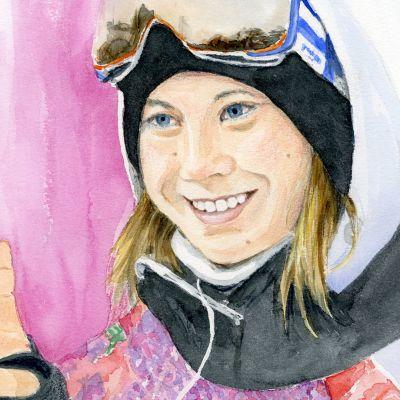 Akvarelli Enni Rukajärvi