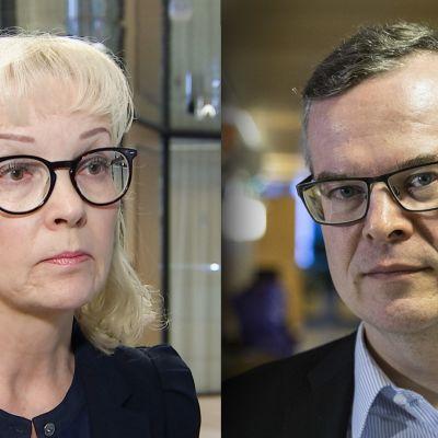 Oikeustieteen tohtorit Irma Pahlman ja Lasse Lehtonen
