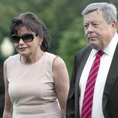 Melania Trumpin vanhemmat Amalija ja Viktor Knavs.
