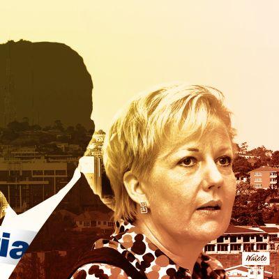 Kuvituskuva murhatusta miehestä, Kampalasta, Patriasta, Suvi Lindénistä.