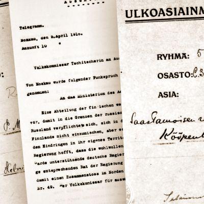 Suomen ulkomaanedustustojen raportit 1918–1926.